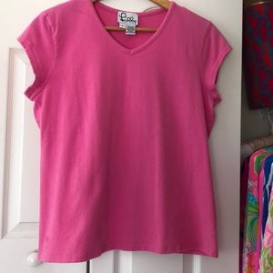 Lilly Pulitzer Hot Pink Top